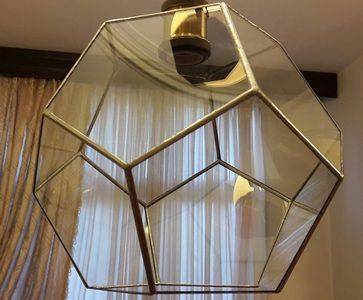 آویز سقفی شیشه ای تیفانی