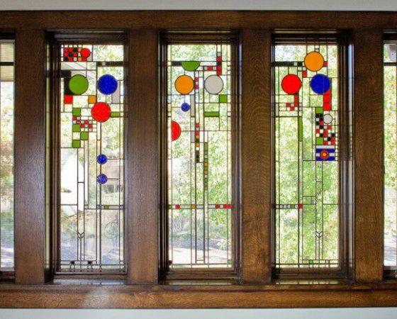 شیشه های رنگی درب و پنجره
