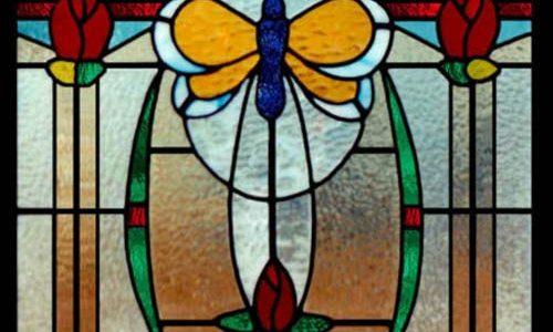پنجره های شیشه ای تیفانی TW7